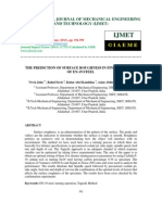 The Prediction of Surface Roughness in Finish Turning of en-19 Steel