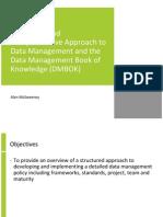 datainformationandknowledgemanagementframeworkandthedatamanagementbookofknowledgedmbok-100308121232-phpapp02