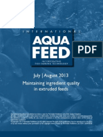 Maintaining ingredient quality in extruded feeds