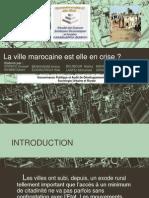 La Ville Marocaine Est-elle en Crise