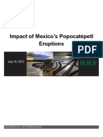 Impact of Mexico's Popocatepetl Eruptions