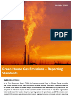 Green House Gas Emission – Reporting Standards