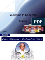 INTRODUCTION SHEENLAC TO SRI LANKA MARKET
