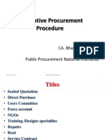 Alternative Procurement