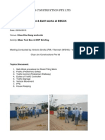 Safety Briefing for Sheet Piling Works and Safe Work Procedure
