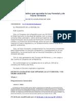 Decreto Legislativo 1090 - Decreto Legislativo que aprueba la Ley Forestal y de Fauna Silvestre