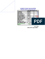 Pump Flow Calculator