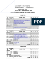 M.E. REFRIGERATION AND AIR CONDITIONING SYLLABUS