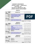 M.E. PRODUCT DESIGN & DEVELOPMENT