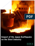 Impact of the Japan Earthquake on the Steel Industry