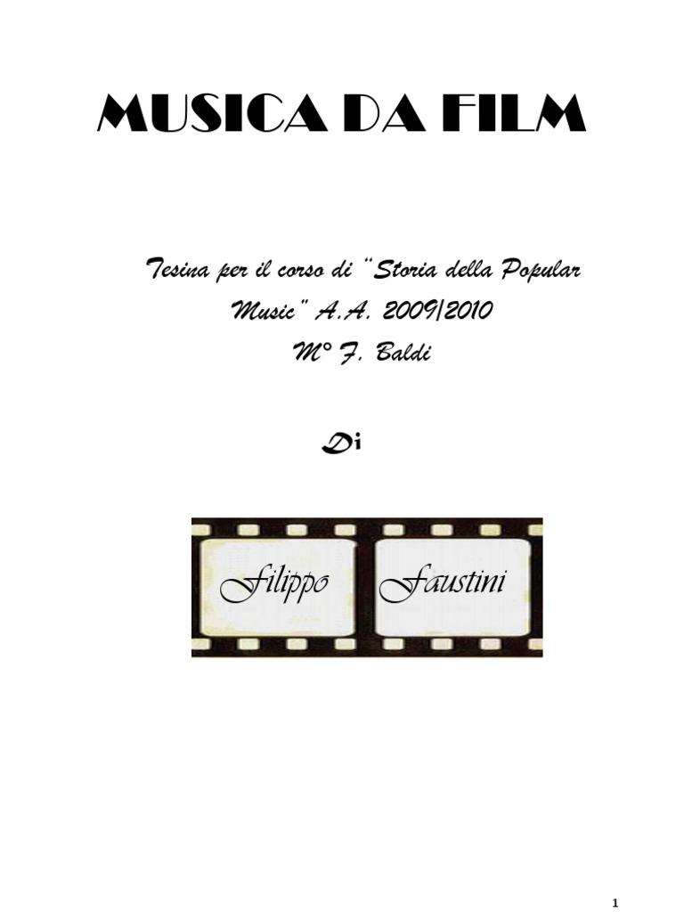 Musica Da Film Tesina