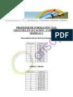 Corrector CUESTIONARIO C - Segunda evaluación - Profesor de Formación Vial Curso XV