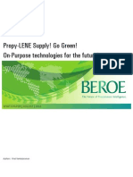 Propy-LENE Supply! Go Green! On-Purpose Technologies for the Future