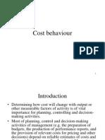 Cost Behaviour