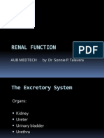 Renal Function AUB