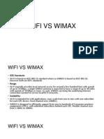 Wifi vs Wimax