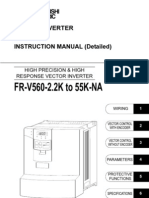 Mitsubishi v500 VFD IB NA 0600135E-A FR-V560 Instruction Manaul-Detailed