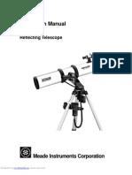 Meade telescop manual ds114at
