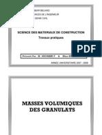 Masse Volumiques Granulats