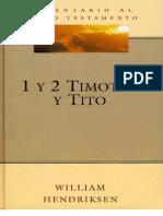 Comentario Al Nuevo Testamento 1-2 Timoteo y Tito - William Hendriksen