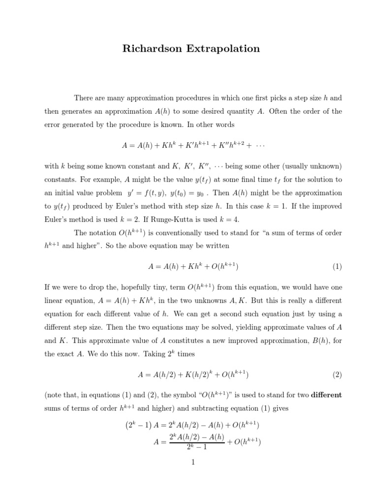 Richa Numerical Analysis Approximation