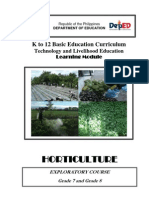 Horticulture Learning Module