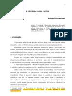 A JUDICIALIZAÇÃO DA POLÍTICA (Rodrigo Lázaro)