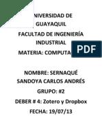 Zotero y Dropbox