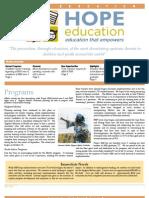 Hope Education Newsletter June 2013