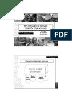 Presentación - Implementación de sistemas de Gestión de la Inocuidad