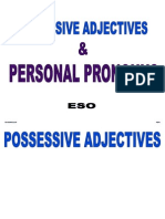 possessive adjectives personal pronouns