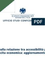Relazione tra accessibilità provinciale e crescita economica