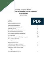 Knowledge Management (Handout)