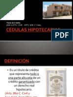 CÉDULAS HIPOTECARIAS