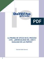 La Prueba de Oficio y La Imparcialidad Del Juez.