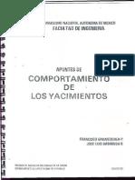 Apuntes de Comportamiento de Los Yacimientos - Francisco Garaicochea p.
