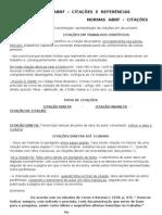 Normas ABNT Citações e Referências 2013