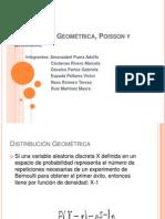 Distribución Geométrica, Poisson y Binomial