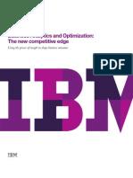 Business Analytics and Optimization