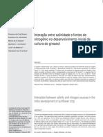 Artigo_Interação entre salinidade e fontes de nitrgênio do desenvolvimento inicial do girassol