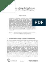 Jean-Luc Petit - Three Ways to Bridge the Gap Between Perception and Action, And Language (Biolinguistics, 2012)