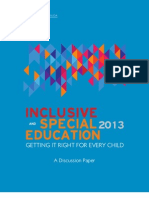 Special Education Discussion Paper