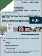 Minerais e Estrutura Cristalina