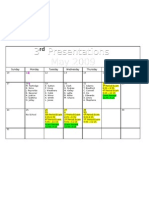 3rd Presentations Calendar