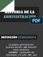 Historia de La Admon