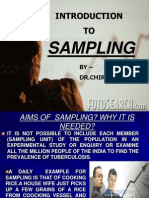 SAMPLING AND SAMPLING METHODS