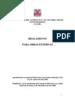 Reglamento Para Obras Externas Caasd