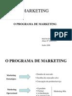 O Programa de Marketing