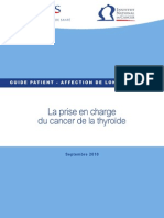 Guide Du Patient Cancer de La Thyroide PDF