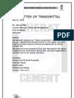 Cherat Cement ltd Financial Ratio Analysis